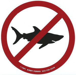 The-original-039-No-Sharks-Allowed-039-Surf-Sticker