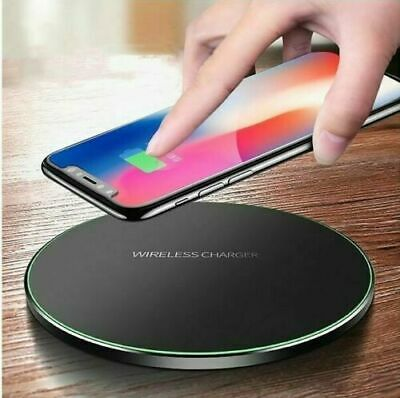 Fast Wireless Charger Charging Pad Mat Metal For Apple iPhone Samsung Huawei
