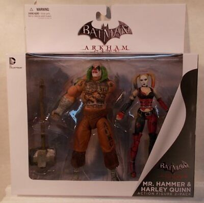 Batman Arkham City Mr Hammer & Harley Quinn Figure DC Comics Collectibles (MISB), used for sale  Shipping to India