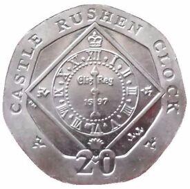 Rare Collectible 20p Coin - Castle Rushden Clock (2010) | Numismatics