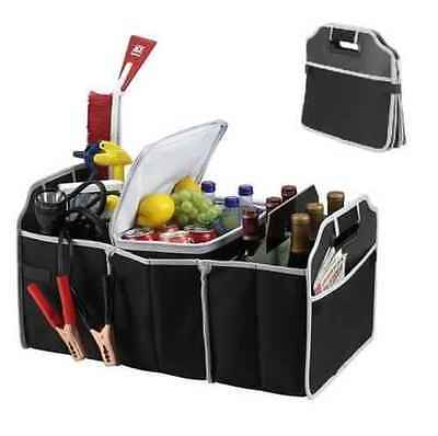 2-in-1 Car Boot Organiser Shopping Tidy Heavy Duty Collapsible Foldable Storage