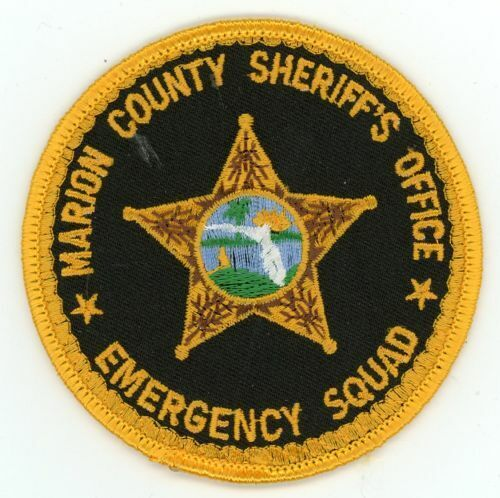 MARION COUNTY SHERIFF FLORIDA FL EMERGENCY SQUAD NICE NEW COLORFUL PATCH POLICE