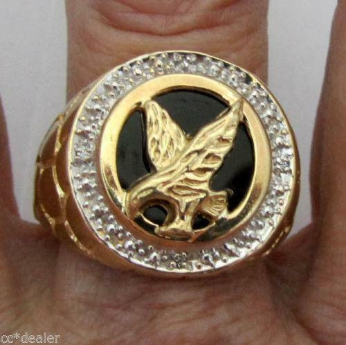 Gold Eagle Ring Ebay