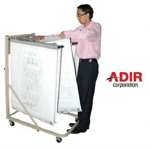 Adir Vertical blueprint File Rolling Stand w/12 Brackets 613.NEW
