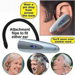 Loud Clear Compact Personal Sound Amplification TV Hearing Aid Amp Amplifier