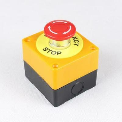 Red Sign Mushroom 1no 1nc 10a 660v Emergency Stop Push Button Switch Waterproofa