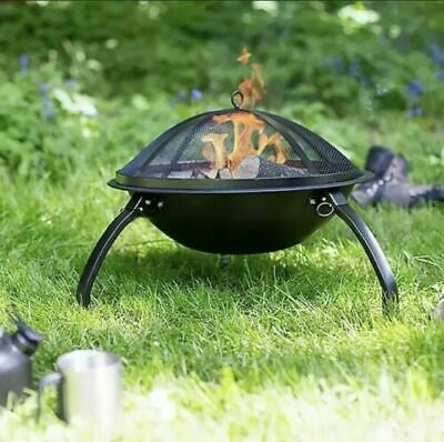Brand New La Hacienda Avid Portable Camping Firepit With Grill & Carry Bag