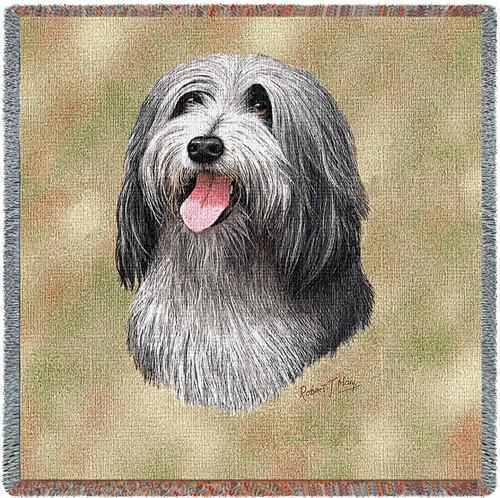 Lap Square Blanket - Bearded Collie by Robert May 1151