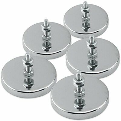 Master Magnetics Round Base Magnet - Magnetic Fastenermagnets With Holes 2.04