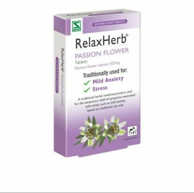 RelaxHerb Passion Flower 30 Tablets 425mg 425 Mg 30 Tablets