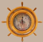 SHIP Wheel Clock