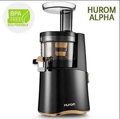 Genuine New Hurom Alpha H AA Series Cold Press Juicer Machine Healthy Diet Black