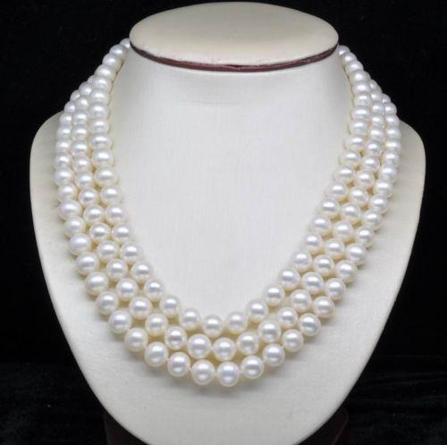 3 Strand Pearl Necklace Ebay