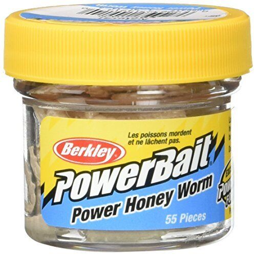 Berkley Powerbait Honey Worm 1 inch 55pc Bluegill, Crappie, & Panfish Bait