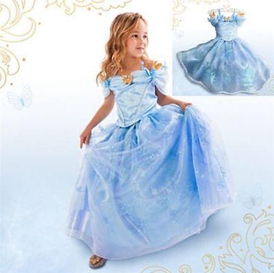 zessin Cinderella Kostüm Kleid Abendkleid blau Krone (Cinderella Krone)