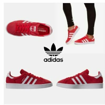 ADIDAS CAMPUS WOMENS TRAINERS RED WHITE SIZE UK 4 4.5 5 5.5 6 6.5 RRP £70