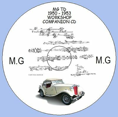 MG TD 1950 - 1953 WORKSHOP INSTRUCTION MANUAL AND PARTS LISTS