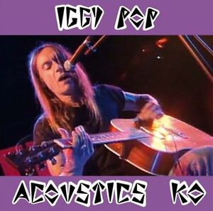 IGGY POP 'Acoustics KO' DVD 17 live tracks+ CD 10 demo tracks Skydog new Stooges