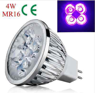 E27 GU10 MR16 4W/5W UV LED Ultraviolet Spotlight Lamp Light Mini Bulb AC/DC12V ()