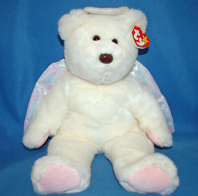 Ty Large Plush Beanie Buddy Halo the Angel Bear  MWMT