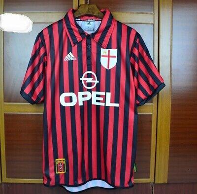 Maglia Jersey AC MILAN Home 1999/2000 CENTENARIO MALDINI SHEVCHENKO WEAH