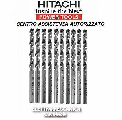 Punta Helicoidales HSS De Hierro 6,0 X 57MM Hitachi Kit 10Pz Taladro Impacto