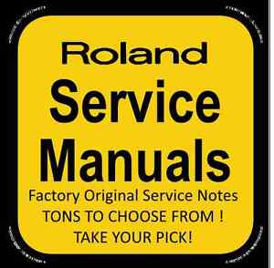 Original-Factory-Roland-Service-Notes-R-X-Service-Manuals-Tons-to-Choose-From