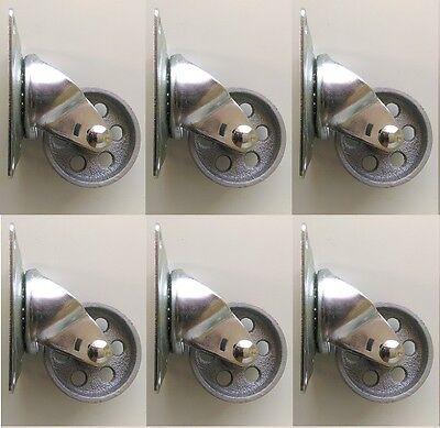 6 Ea Shepherd Hardware 9780 3 Inch Cast Iron Wheel Swivel Plate Caster
