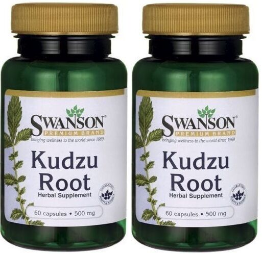2X Kudzu Root 500 mg x 60 ( 120 ) Capsules ** AMAZING PRICE ** 24HR DISPATCH