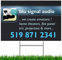Any size flat panel TV & Home theatre installations