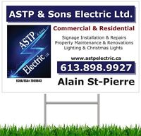 Electrical Contractor - ASTP & Sons Electric Ltd.
