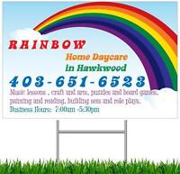 Home Daycare in Hawkwood NW! Kids 18 months - 5 years old!