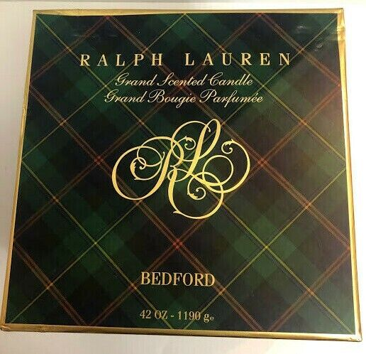 Ralph Lauren Grand Scented 4-Wick Candle Bedford with Brass Sleeve 42 Ozs New