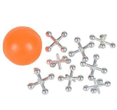 4 SETS OF METAL JACKS AND RED BALL Game Classic Kids Toy NEW #AA47 Free shipping
