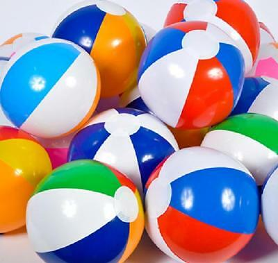 "6 ASSORTED BEACH BALLS 16"" Pool Party Beachballs #LN2 Free shipping"
