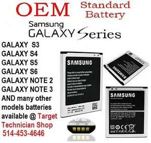 Batteries for Samsung, LG, HTC, Nokia, Blackberry and Motorola