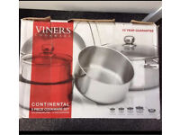 Viners cook wear continental 5 piece cookware set - BRAND NEW IN BOX