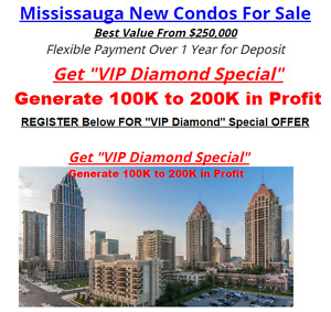 Mississauga New Condos For Sale Best Value From $250,000!