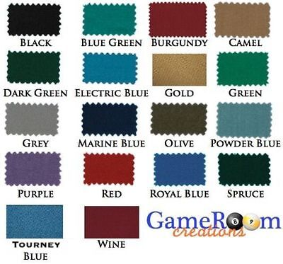 Used, New Worsted Pool Table Cloth for 9ft Table - High Speed Billiard Cloth Felt for sale  Loganville