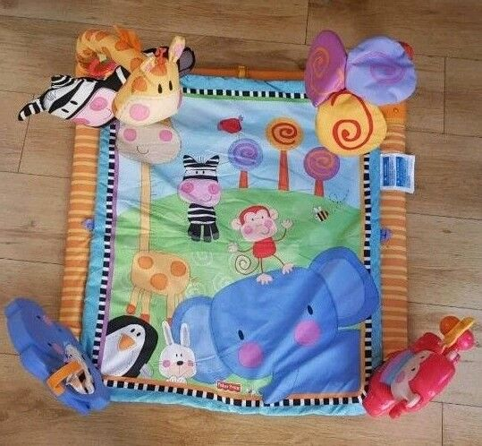 FISHER PRICE PLAY MAT ANIMAL THEME playmat activity gym