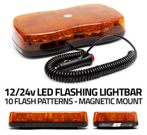 LED LIGHTBAR Emergency Recovery Flashing Warning Strobe Lights Beacon Amber