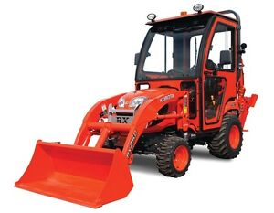 Kubota BX25D Front-Loader and Backhoe with attachements