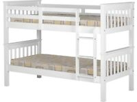 New strong white wood bunk beds £249 AVAILABLE TODAY