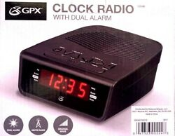 Electric Digital Dual Alarm Clock Radio Am/Fm LED Large Display Battery Backup