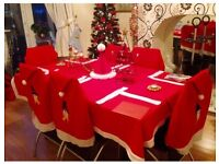 6 Piece Matching Christmas table set