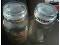 Douwe Egberts Coffee Storage Jars x10 (Empty!)