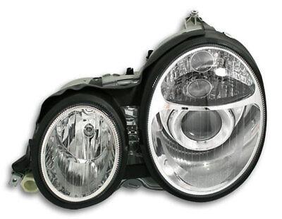 SCHEINWERFER KLARGLAS MERCEDES W210 E-KLASSE BJ 95-99 CHROM