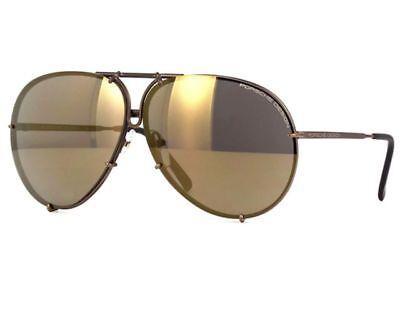 NEW Porsche Design P8478 E 66mm Copper / Grey Flash Gold (Sunglasses P 8478)