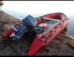 Mercury inflatable w/ 30 HP Yamaha oil injected 2 stroke