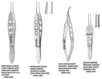 4 Pc O.r Grade Suture Tying Micro Minor Surgery Kit
